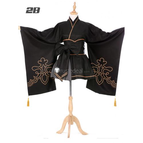 Nier Automata 2B 9S Kimono Cosplay Costume