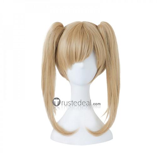Overwatch Black Cat D.Va Blonde Ponytails Cosplay Wig