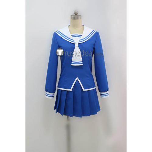 Fruits Basket Tohru Honda School Girls Blue Winter Uniform Cosplay Costume