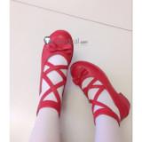 Miss Kobayashis Dragon Maid Kanna Kamui Red Pink Lolita Cosplay Shoes