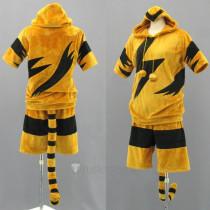 Pokemon Gijinka Electabuzz Cosplay Costume and Tail