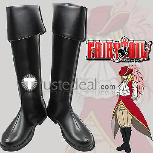 Fairy Tail Mage Rufus Lore Black Cosplay Shoes Boots
