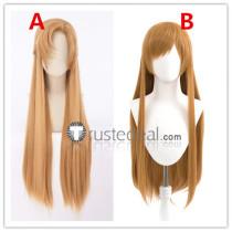 Sword Art Online SAO Asuna Long Brown Cosplay Wigs