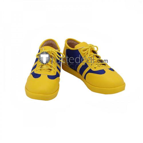 Street Fighter CHUN LI Blue Yellow Cosplay Shoes Boots