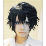 Blue Exorcist Okumura Rin Blue and Black Cosplay Wigs