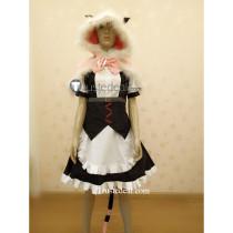Steins Gate 0 Faris NyanNyan Maid Cosplay Costume2