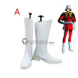 Mobile Suit Gundam Char Aznable White Black Cosplay Boots Shoes
