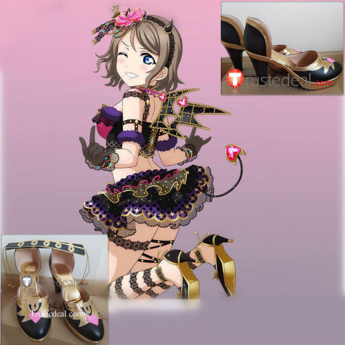 Love Live Sunshine Aqours Yoshiko Dia Kanan Ruby Chika Mari Riko You Hanamaru Little Devil Cosplay Boots Shoes Heels
