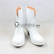Mobile Suit Gundam Seed Princess Lacus Clyne White Cosplay Shoes Boots