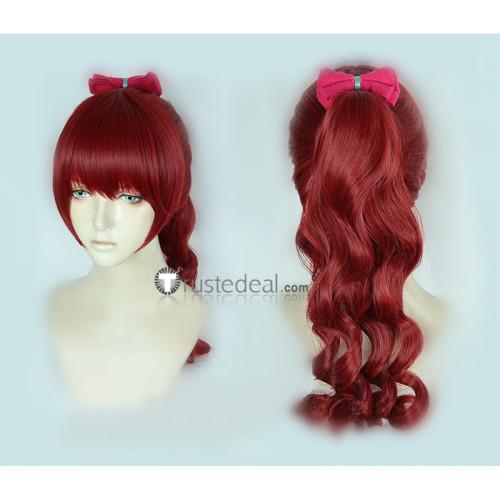 Persona 5 The Roayal P5R Kasumi Yoshizawa Phantom Thief Sae Niijima Red Ponytail Grey Cosplay Wigs
