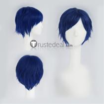 Free! Iwatobi Swim Club Ryugazaki Rei Shot Blue Cosplay Wig