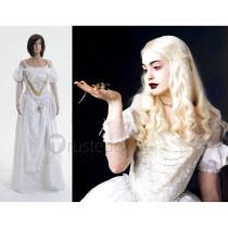 Alice in Wonderland The White Queen Cosplay Costume