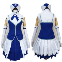 Fairy Tail Juvia Lockser Blue White Cosplay Costume 1