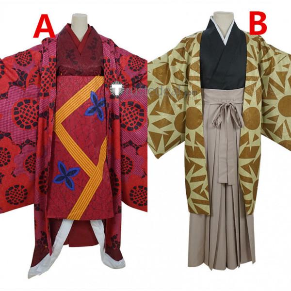 Kimetsu no Yaiba Demon Slayer Daki Warabihime Hotaru Haganezuka Kimono Cosplay Costumes