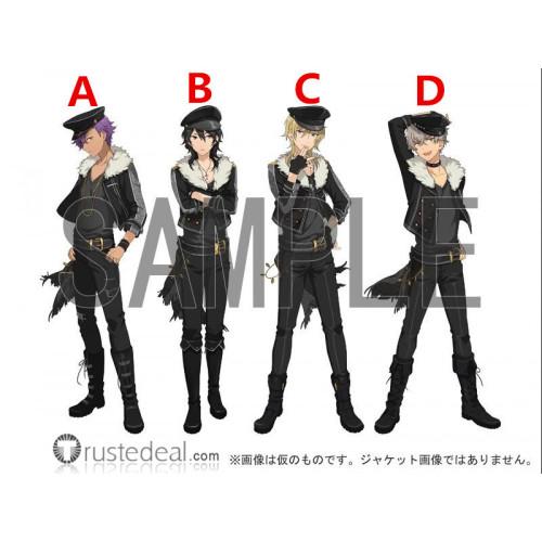 Ensemble Stars Undead Oogami Koga Rei Sakuma Kaoru Hakaze Adonis Otogari Black Cosplay Shoes Boots