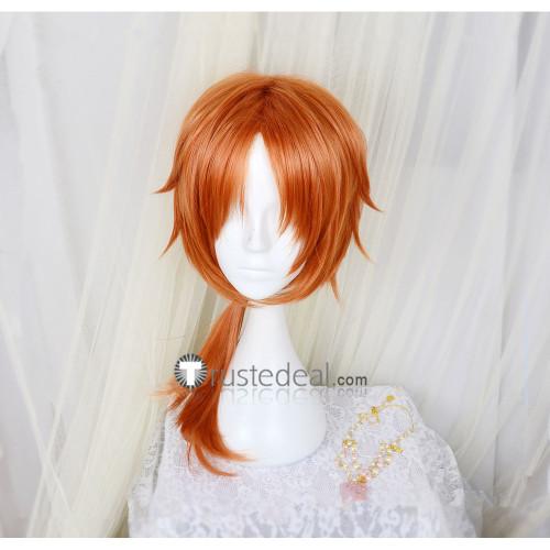 Ensemble Stars Knights Leo Tsukinaga Orange Cosplay Wig