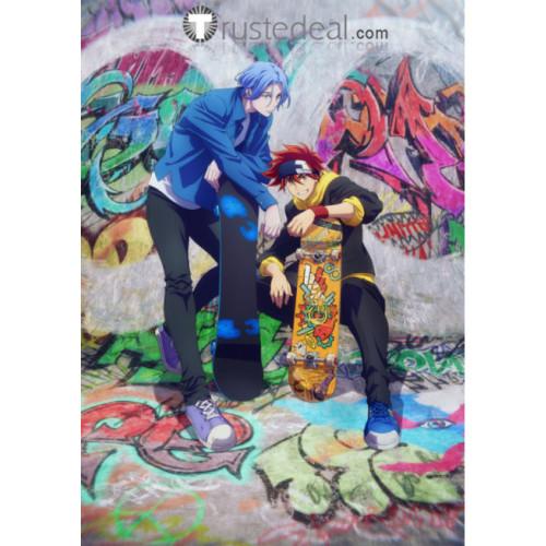 SK8 the Infinity SK∞ Reki Kyan Langa Hasegawa Red Blue Cosplay Wigs 2