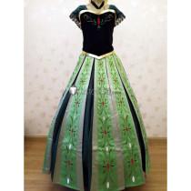 Frozen Disney Princess Anna Coronation Cosplay Costume