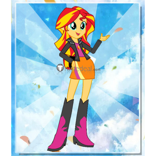 My Little Pony Equestria Girls Sunset Shimmer Red Blonde Cosplay Wig