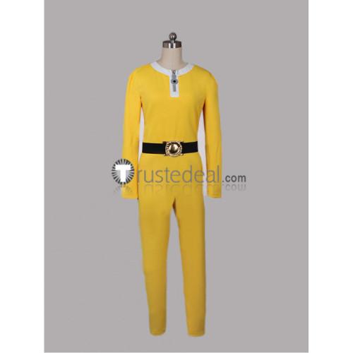 One Punch Man Saitama Yellow Jumpsuit Cosplay Costumes