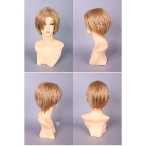 Blood C Fumito Nanahara Short Blonde Brown Cosplay Wig