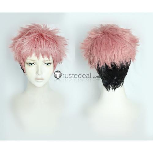 Jujutsu Kaisen King of Curses Megumi Fushiguro Yuji Itadori Genderbend Pink Black Ponytail Cosplay Wigs