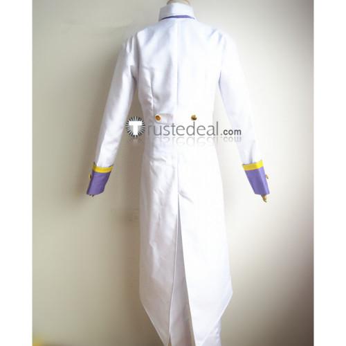 Black Butler Kuroshitsuji Ash Landers White Tuxedo Cosplay Costume