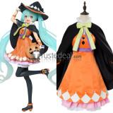 Vocaloid Miku Hatsune Halloween 2nd Season Orange Black Cosplay Costume
