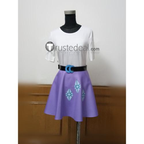 My Little Pony Equestria Girls Human Rarity White Purple Cosplay Costume