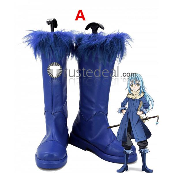 Tensei Shitara Slime Datta Ken Rimuru Tempest Mikami Satoru Blue Cosplay Boots Shoes