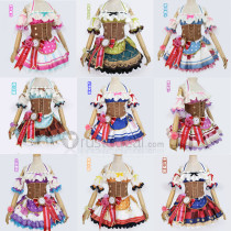 Love Live! Sunshine Aqours Valentine's Day Yoshiko Ruby Kurosawa Hanamaru Kunikida Mari Ohara Maid Cosplay Costume
