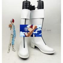 Boku no Hero Academia Shouto Todoroki White Cosplay Boots Shoes