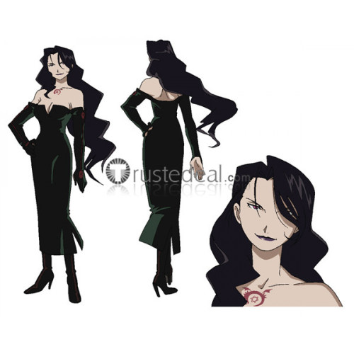 Full Metal Alchemist Lust Black Cosplay Shoes Boots