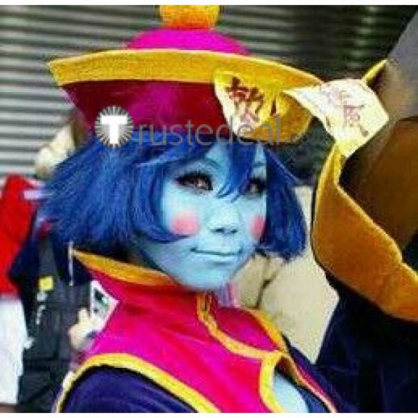Darkstalkers Hsien-Ko Lei Lei Blue Black Cosplay Wig
