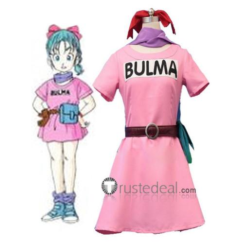 Dragon Ball Z Bulma Pink Cosplay Costume