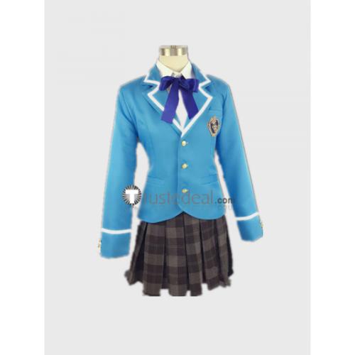 Ensemble Stars 2nd Year Female Blue School Uniform Cosplay Costume