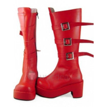 One Piece Perona Red Platform Cosplay Boots Shoes