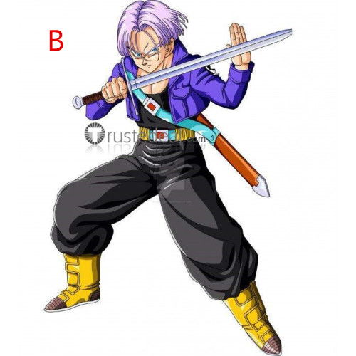 Dragon Ball Trunks Purple and Blue Cosplay Wigs