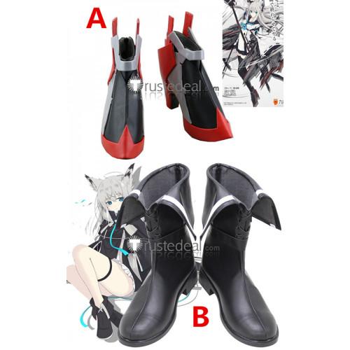 Azur Lane SSR Kawakaze Black Cosplay Boots Shoes