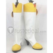 Pretty Cure Kise Yayomi Yellow and White Cosplay Boots Shoes