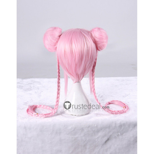 Super Sonico Sonico Cheongsam Pink Braid Cosplay Wig