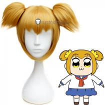 Pop Team Epic Poputepipikku Popuko Blonde Ponytails Cosplay Wig