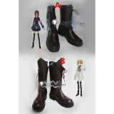 Vampire Knight Yuki Rima Brown Cosplay Shoes Boots