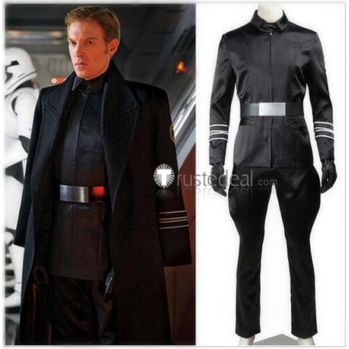Star Wars The Force Awakens Armitage Hux General Hux Black Cosplay Costume