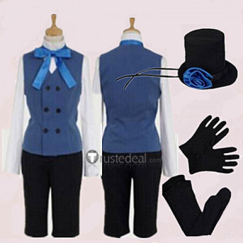 Black Butler Kuroshitsuji Ciel Phantomhive Black Devil Cosplay Costume