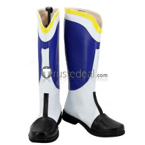 Mobile Suit Gundam IRON BLOODED ORPHANS McGillis Fareed White Blue Cosplay Boots Shoes