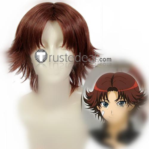 Prince of Tennis Kikumaru Eiji Red Brown Cosplay Wigs