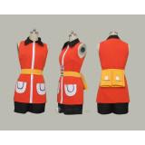 Pokemon May Haruka Orange Red Cosplay Costume