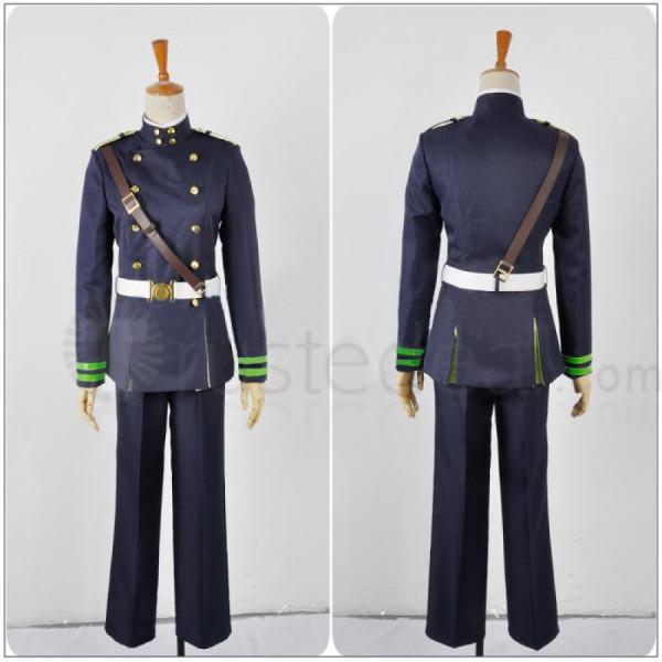 Seraph of the End Owari no Serafu Yuichiro Hyakuya Military Uniform Cosplay Costume