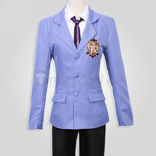 Ouran High School Host Club Haruhi Tamaki Honey Blue Black Cosplay Costume Whole Set